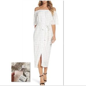 CHARLES HENRY | NWT | Checked Off Shoulder Dress
